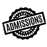Admissions rubber stamp Royalty Free Stock Image
