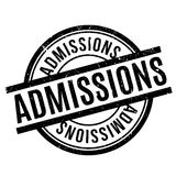Admissions rubber stamp Royalty Free Stock Images