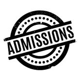 Admissions rubber stamp Royalty Free Stock Photos