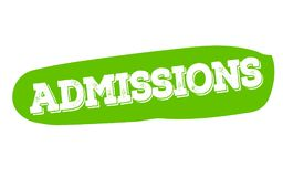 ADMISSIONS sticker stamp Stock Photo