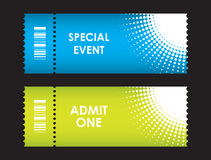 Admit one cinema ticket Stock Photo