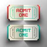 Admit One Paper Cut Vector Tickets Royalty Free Stock Image