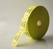 Admit one roll. A roll of admit one tickets stock photos