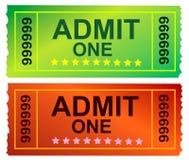 Admit One Ticket Stock Image