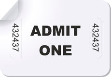 Admit one ticket Royalty Free Stock Photo