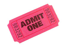 Admit One Ticket Stock Images