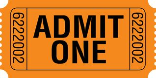 Admit one ticket. An admit one ticket on white background, vector format available royalty free illustration