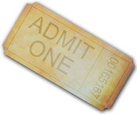 Admit one ticket for event Royalty Free Stock Image