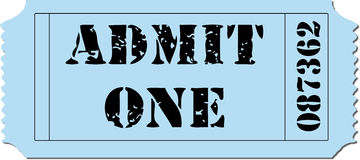 Admit One Ticket Illustration Royalty Free Stock Photography