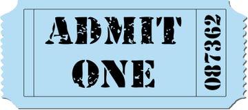 Admit One Ticket Illustration vector illustration