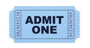 Admit one ticket. Ticket isolated on white background Stock Photo
