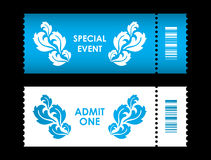 Admit one ticket. With special flower design Stock Images