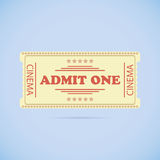 Admit One ticket Royalty Free Stock Images