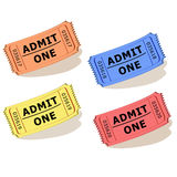 Admit one tickets vector Stock Photo
