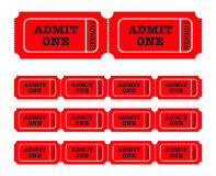 Admit one tickets Royalty Free Stock Image