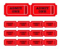 admit one tickets Στοκ εικόνα με δικαίωμα ελεύθερης χρήσης