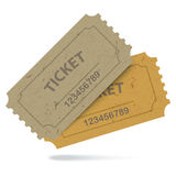 Admit One Vintage Paper Tickets Royalty Free Stock Images