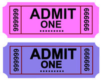 Admit  Ticket 1 Royalty Free Stock Photo