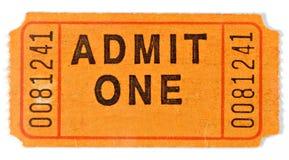 Admita el boleto foto de archivo libre de regalías