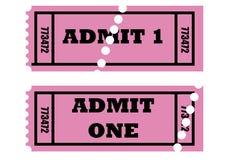 Admita que um tickets Imagem de Stock