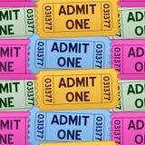 Admita que um Tickets o teste padrão sem emenda Fotografia de Stock