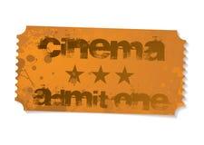 Admita um bilhete do cinema ilustração stock