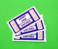 Admita un boleto fotografía de archivo libre de regalías