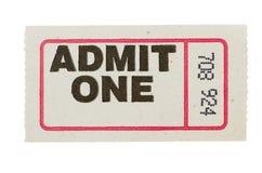 Admita un boleto gris Foto de archivo libre de regalías