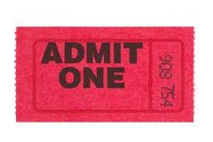 Admita un boleto rojo imágenes de archivo libres de regalías