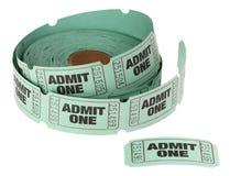 Admita un rollo de boletos Imágenes de archivo libres de regalías