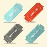 Admita un sistema retro del boleto del vector Imágenes de archivo libres de regalías
