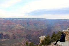 Admitir la belleza cruda de Grand Canyon Imagenes de archivo