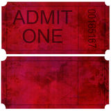 Admittance ticket Stock Photo