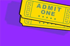 Admittance tickets Royalty Free Stock Image