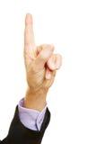 Admonishing index finger pointing up Royalty Free Stock Photography