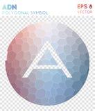 Adn多角形标志 库存例证