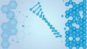 ADN, ácido deoxyribonucleic, ciência, vídeo ilustração royalty free