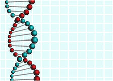 ADN abstraite au-dessus de fond bleu Images libres de droits