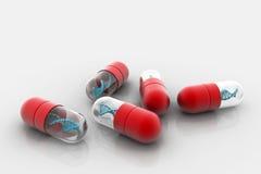 ADN dans la capsule Images stock