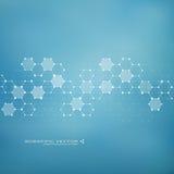 ADN de molécule et neurones Structure moléculaire Lignes reliées avec des points Composés chimiques génétiques Chimie, médecine, Photo stock