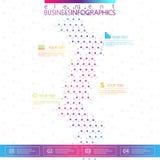 ADN do projeto moderno no fundo cinzento, molde do conceito para o infographics Fotos de Stock