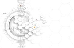 ADN et fond médical et de technologie molécule futuriste s Image stock