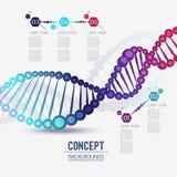 ADN géométrique de trellis de couleur abstraite Photos libres de droits