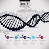 ADN geométrico preto abstrato da estrutura Fotografia de Stock Royalty Free