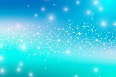 ADN moderno da molécula da estrutura átomo Molécula e fundo de uma comunicação para a medicina, ciência, tecnologia, química ilustração stock