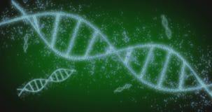 ADN tournante avec le fond de formule Concept scientifique de génie génétique banque de vidéos
