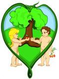 Adán y Eva Fotos de archivo libres de regalías