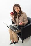 Ładna brunetka azjata kobieta Zdjęcia Royalty Free