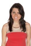Ładna brunetka w formalnej sukni portrecie Fotografia Royalty Free
