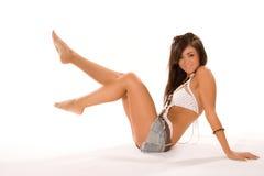 ładna brunetki dziewczyna Obraz Royalty Free